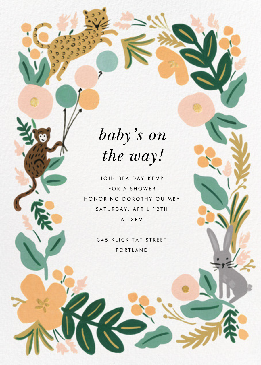 Festive Fauna - Rifle Paper Co. - Woodland baby shower invitations