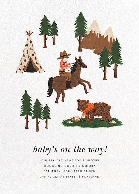 Go West - Rifle Paper Co. - Baby shower