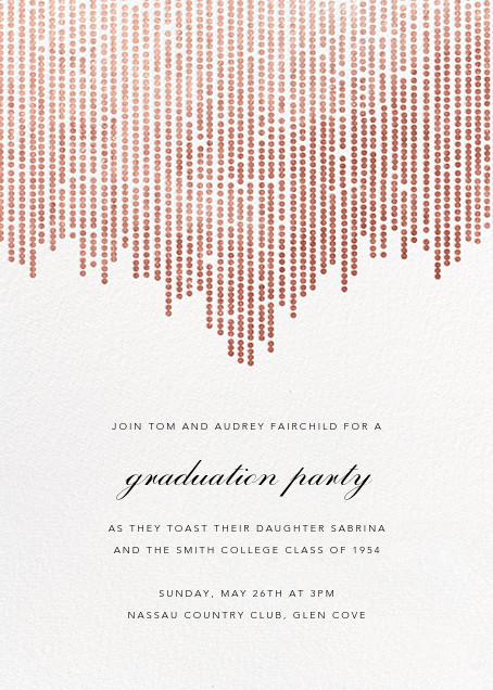 Josephine Baker - White/Rose Gold - Paperless Post - Graduation party