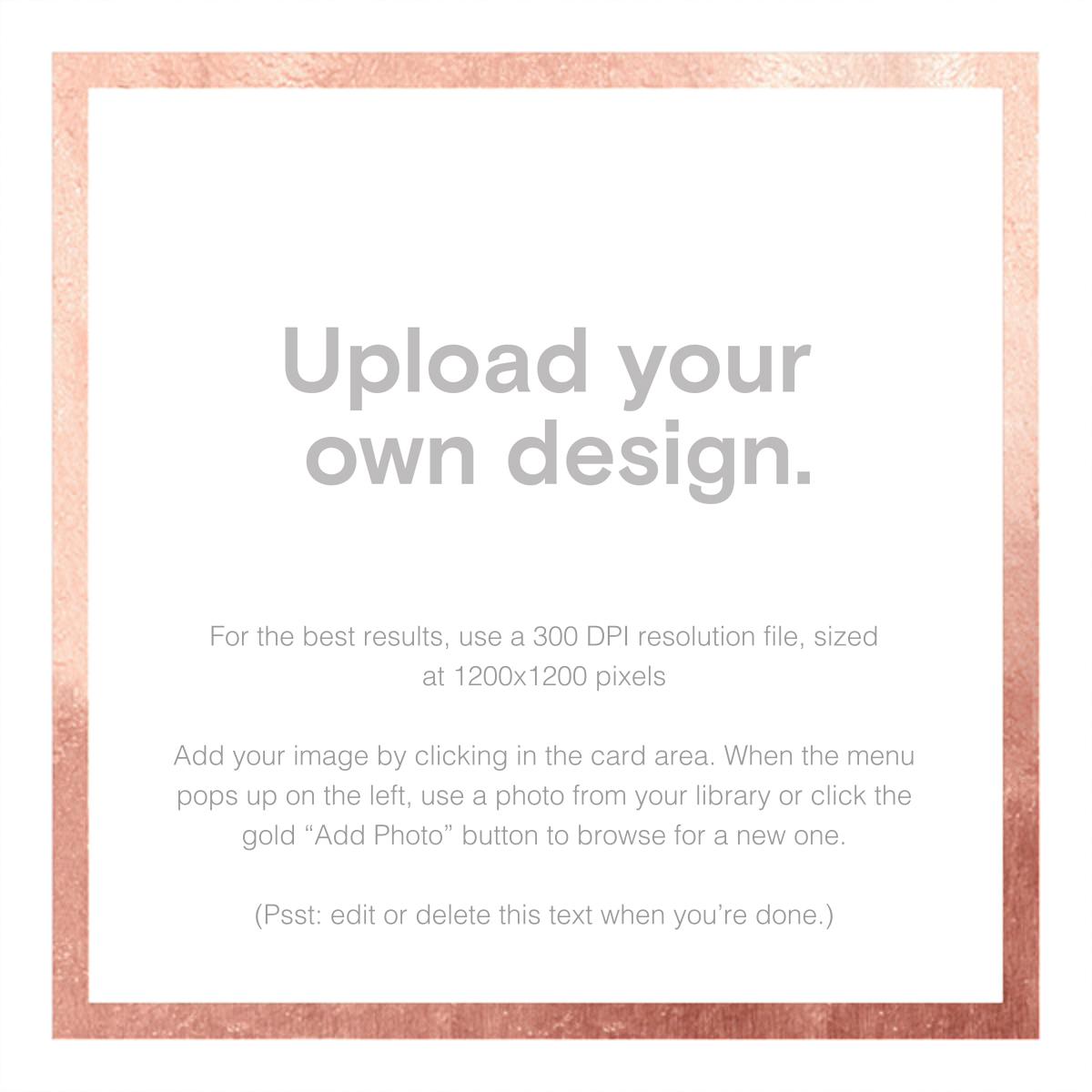 Custom Foil (Square) - Rose Gold - Paperless Post - Adult birthday