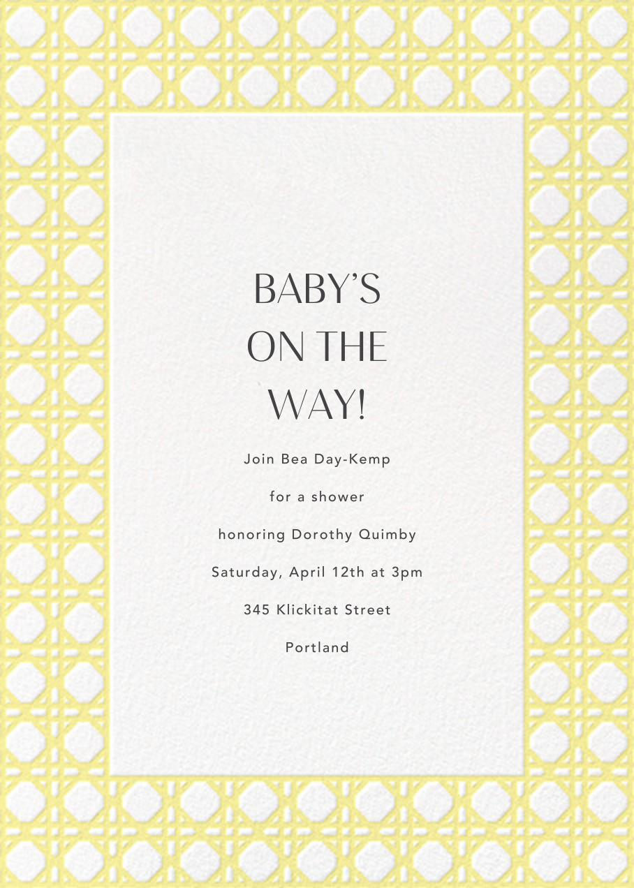 Rattan - Lemon Drop - Paperless Post - Baby shower