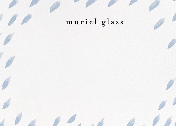 Brushed Drops (Stationery) - White/Tundra - Ashley G - Personalized stationery