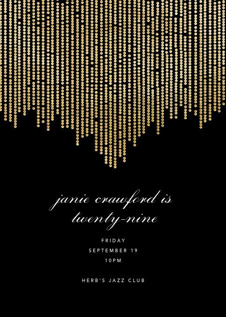 Josephine Baker - Black/Gold - Paperless Post - Adult birthday