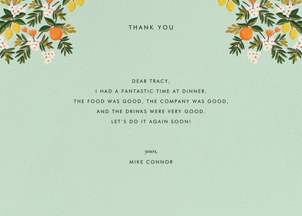 Citrus Orchard Suite (Thank You) - Mint - Rifle Paper Co. - General
