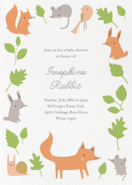 Foxy's Forest Party - Green - Little Cube - Woodland baby shower