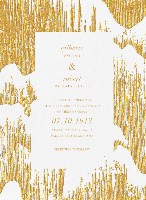 Glisten (Invitation) - Gold - Kelly Wearstler - All