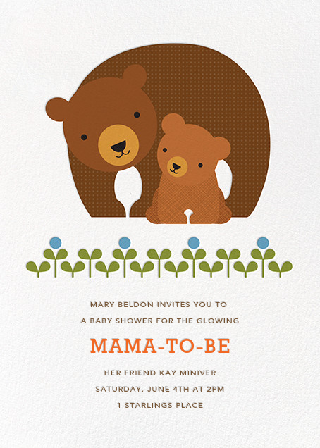 Mama and Cub - Petit Collage - Baby shower