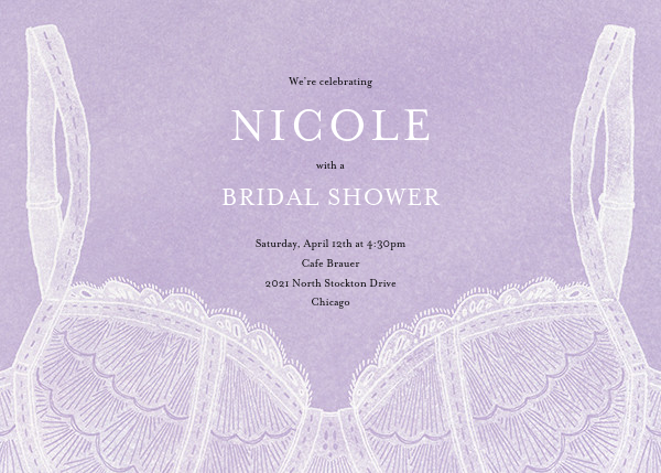 Intimate Situation - Wisteria - Paperless Post - Bridal shower