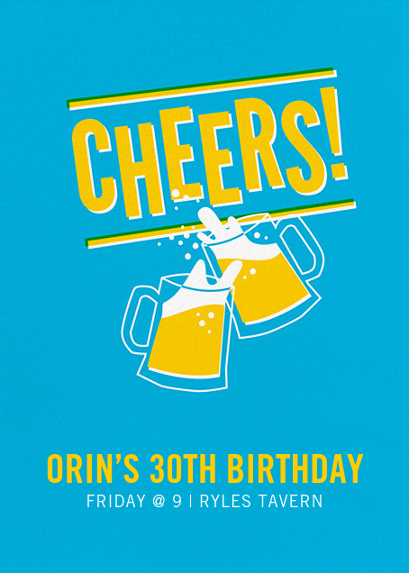 Cheers Beers (Invitation) - Hello!Lucky - Adult birthday