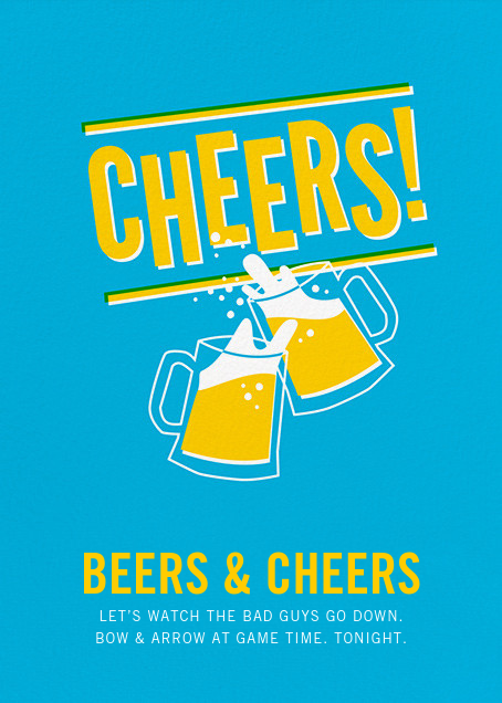 Cheers Beers (Invitation) - Hello!Lucky - Sports