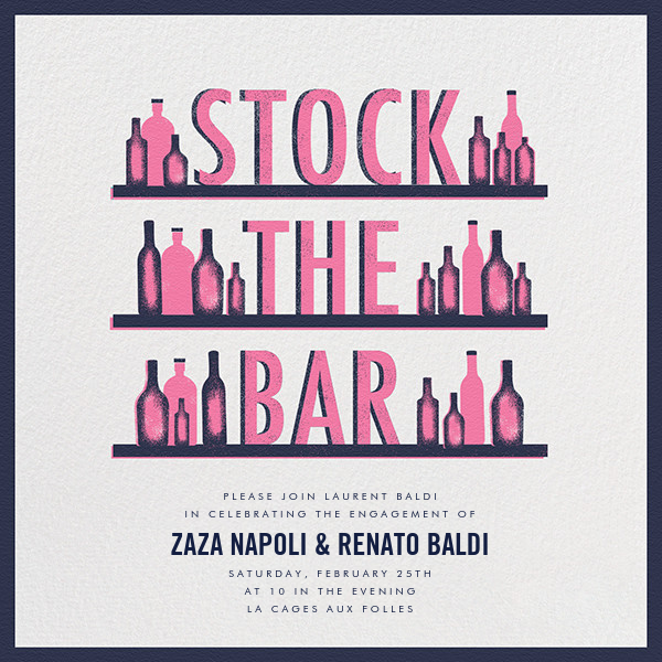 Stock The Bar - Pink And Blue - Paperless Post - null