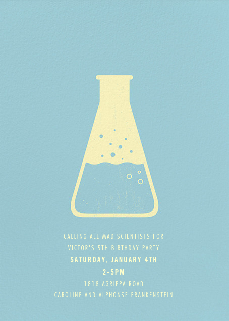‪Erlenmeyer Flask‬ - Light Blue - Paperless Post - Kids' birthday