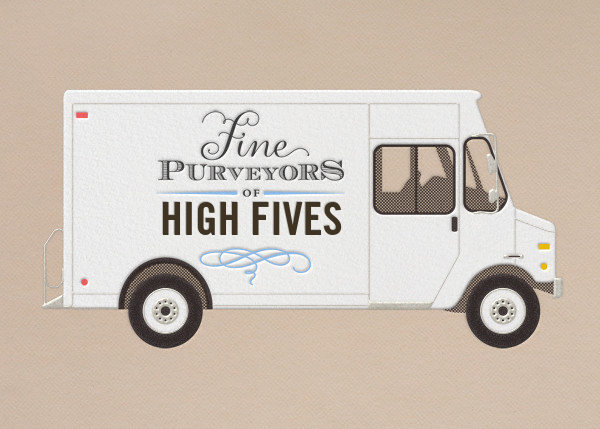 Delivery Truck - Paperless Post - Congratulations
