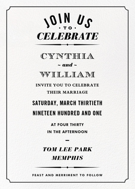 Seal the Date (Invitation) - Black - Paperless Post - All
