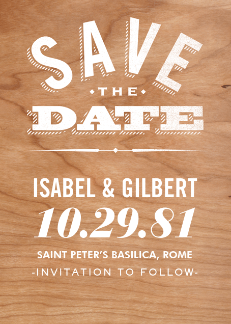 Wood You Be Mine (Save the Date) - Paperless Post - Party save the dates