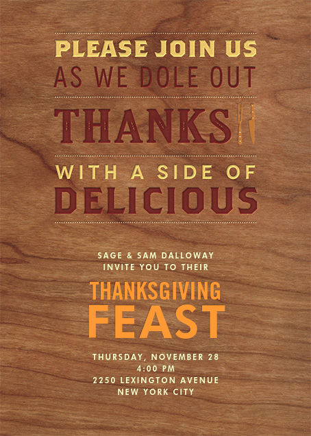 A Side of Delicious - Crate & Barrel - Thanksgiving