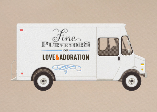 Adoration - Delivery Truck - Paperless Post - Anniversary cards