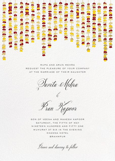 Under the Toran (Invitation) - Crimson - Paperless Post
