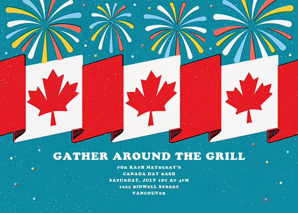 Flags and Fanfare - Paperless Post - Canada Day