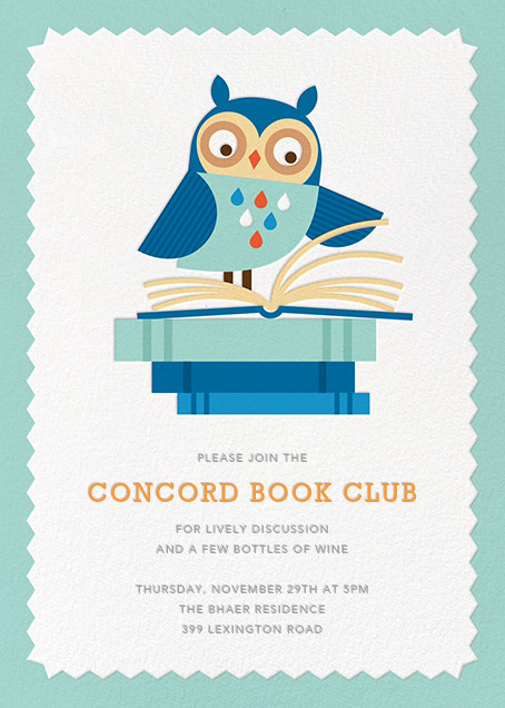 Owl-Nighter - Blue - Petit Collage - Book club