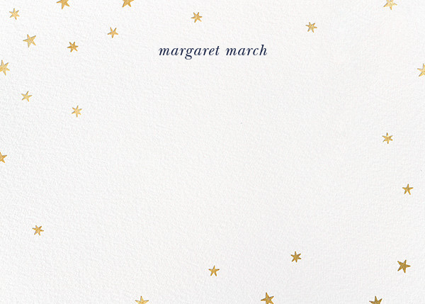 Nightly - White/Gold - Paperless Post - Personalized stationery