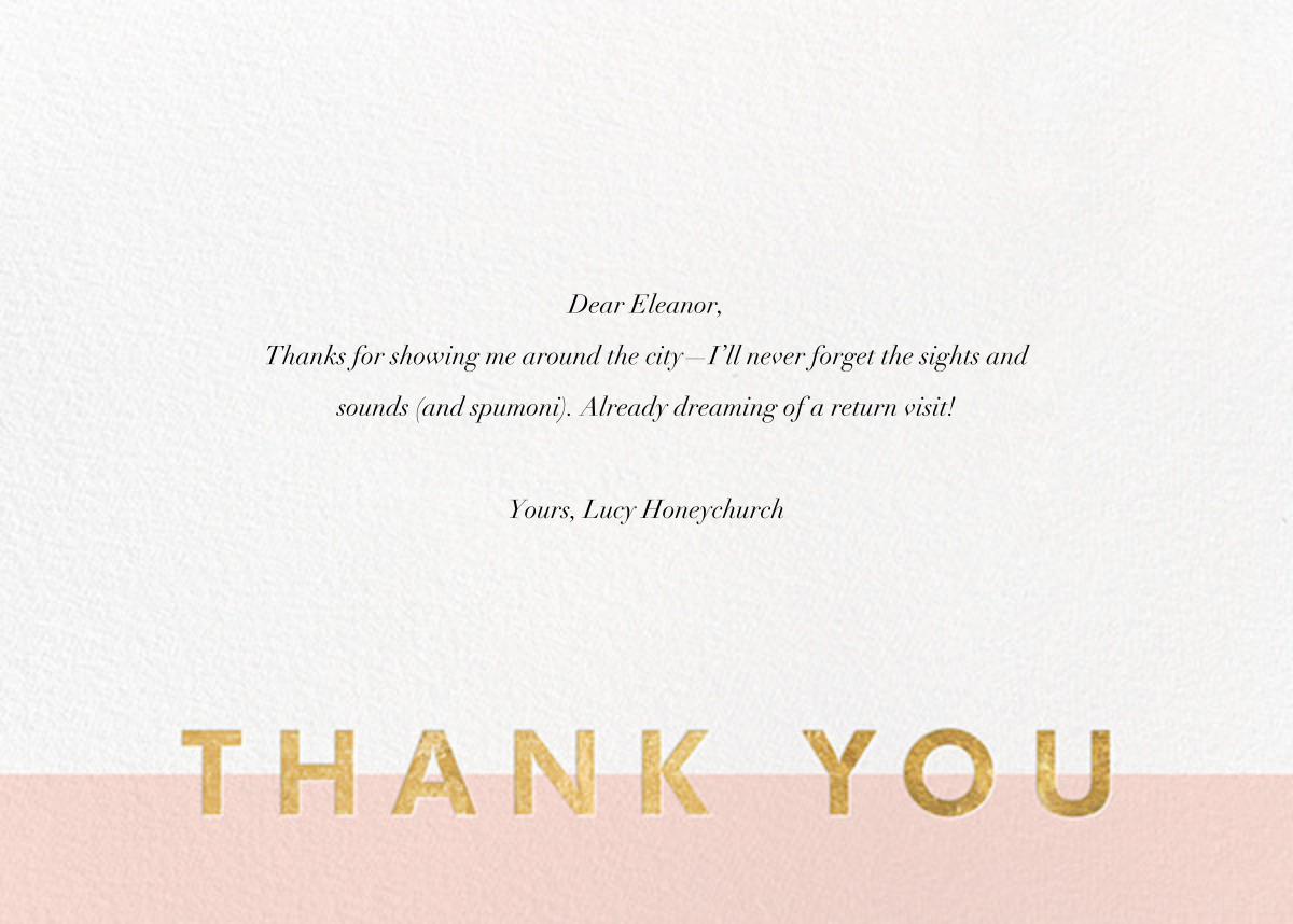 Field of Thanks - Meringue/Gold - Paperless Post - General