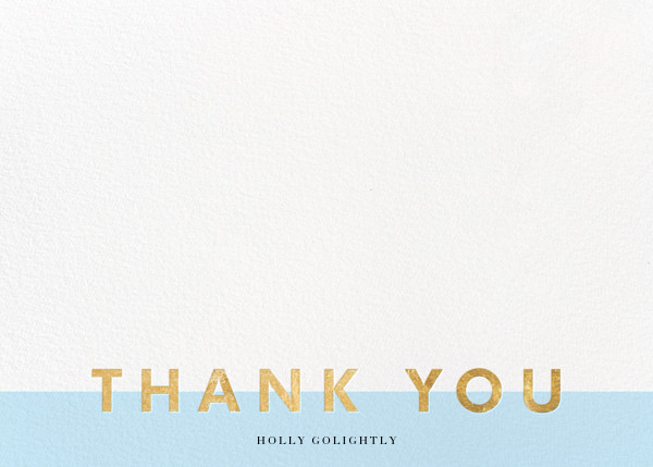 Field of Thanks (Stationery) - Glacier/Gold - Paperless Post - Wedding