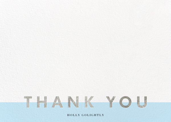 Field of Thanks (Stationery) - Glacier/Silver - Paperless Post - Wedding