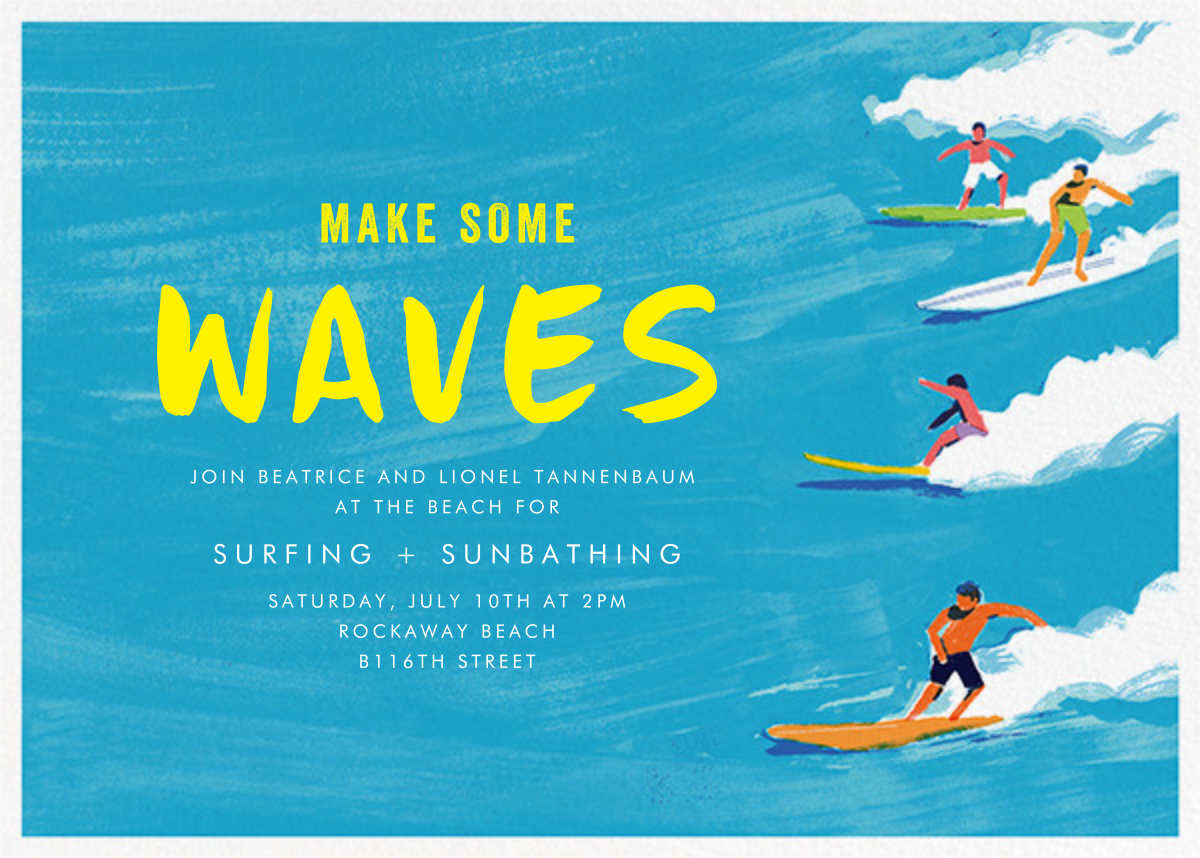 Make Some Waves - Paperless Post - Beach party