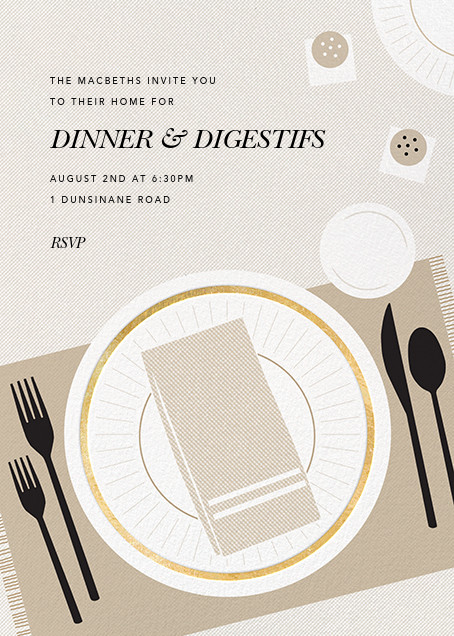 Places, Please - Paperless Post - Dinner party