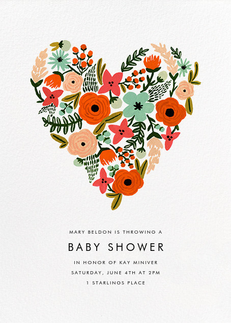 Heart of Plenty - Rifle Paper Co. - Baby shower