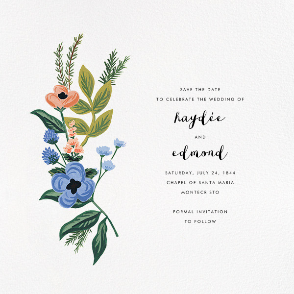 August Herbarium (Save the Date) - Rifle Paper Co. - Save the date
