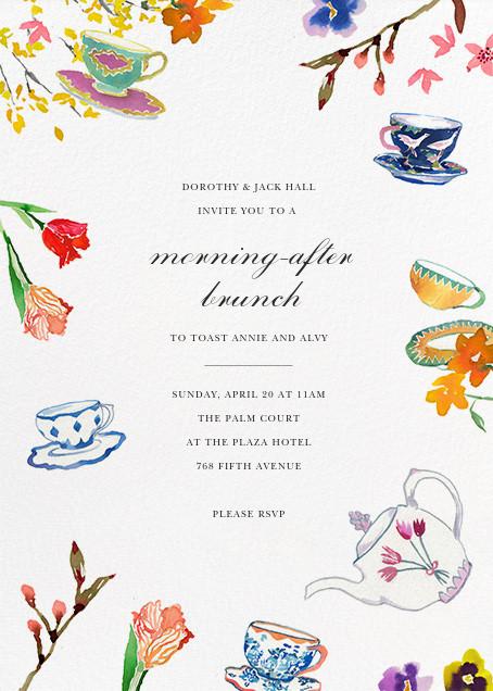 Tea Garden - Happy Menocal - Wedding brunch