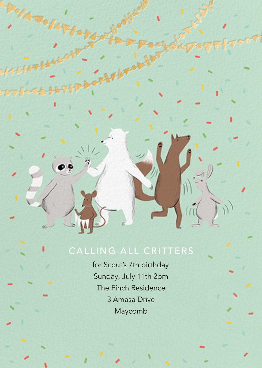 Furfetti - Mint - Paperless Post - Kids' birthday