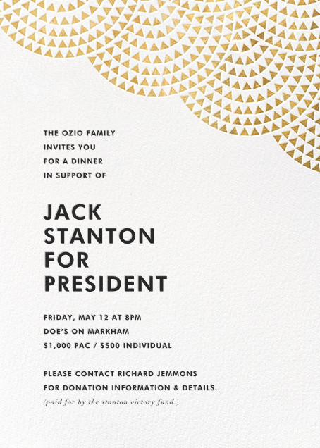 Savoy (Invitation) - Gold - Paperless Post