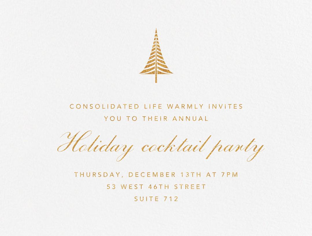 Bethlehem Conifer - Gold - Paperless Post - Corporate invitations