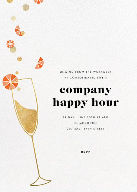 Citrus Fizz - Gold - Paperless Post - Happy hour