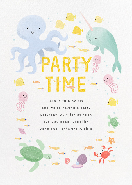 Sea of Love - Paperless Post - Beach party invitations
