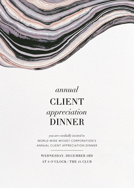 Marbleized (Vertical Invitation) - Kelly Wearstler - Reception