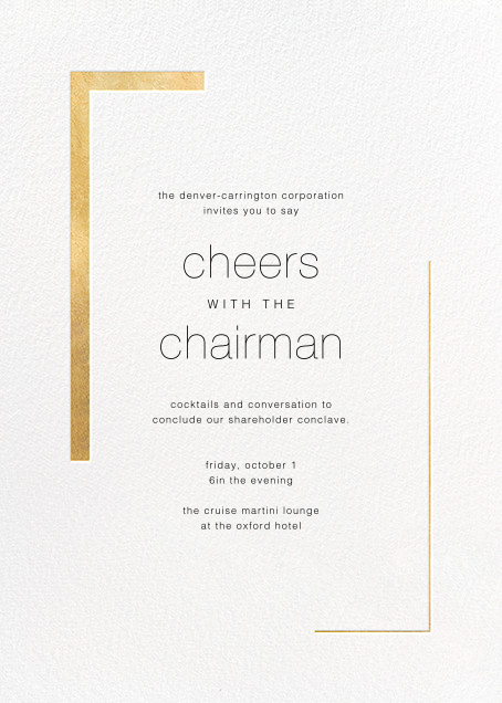 Ando (Invitation) - Gold - Paperless Post - Reception