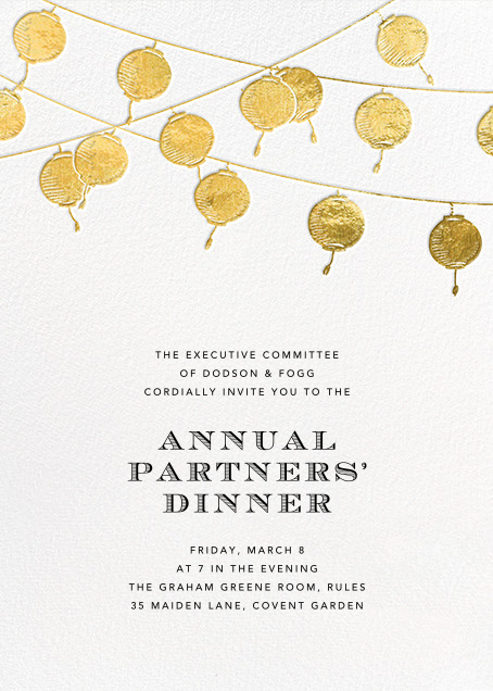 Lanterns - Gold - Paperless Post - Retirement party