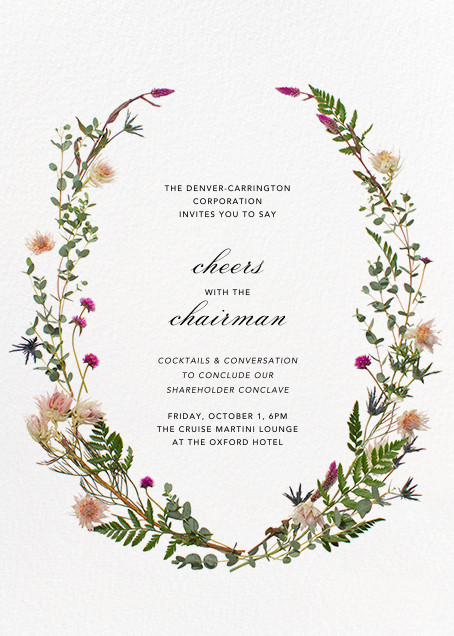 Fleurs Sauvages (Tall) - Paperless Post - Reception