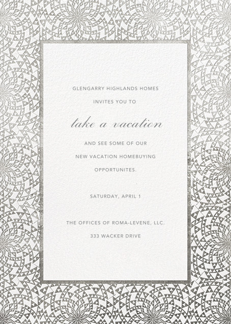 Deco Border - White - Paperless Post - Professional events