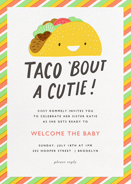 Taco the Town - Hello!Lucky - Baby shower