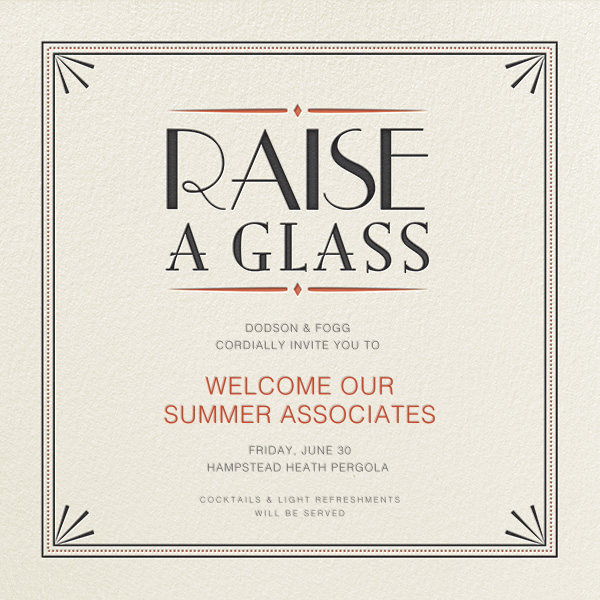 Raise a Glass - Crate & Barrel - Happy hour