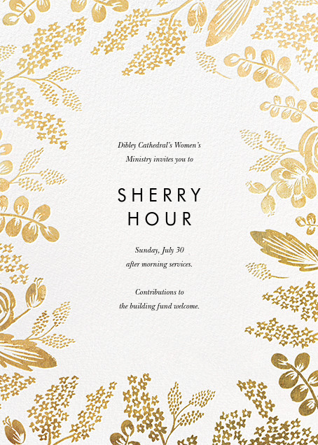 Heather and Lace (Invitation) - White/Gold - Rifle Paper Co.