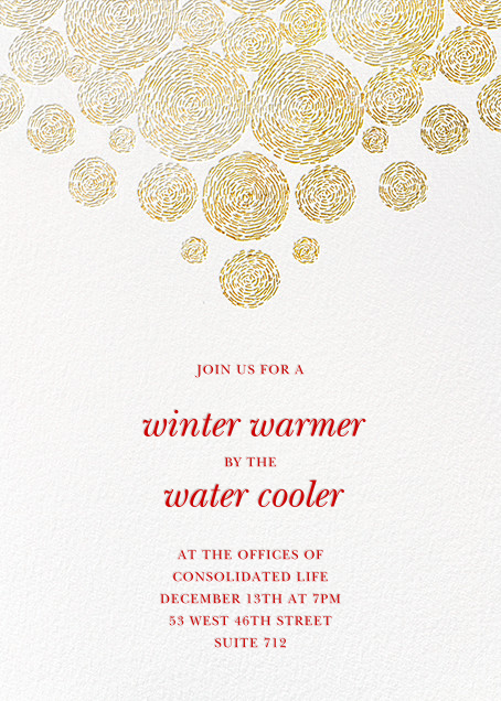 Radiant Swirls (Tall) - Oscar de la Renta - Corporate invitations
