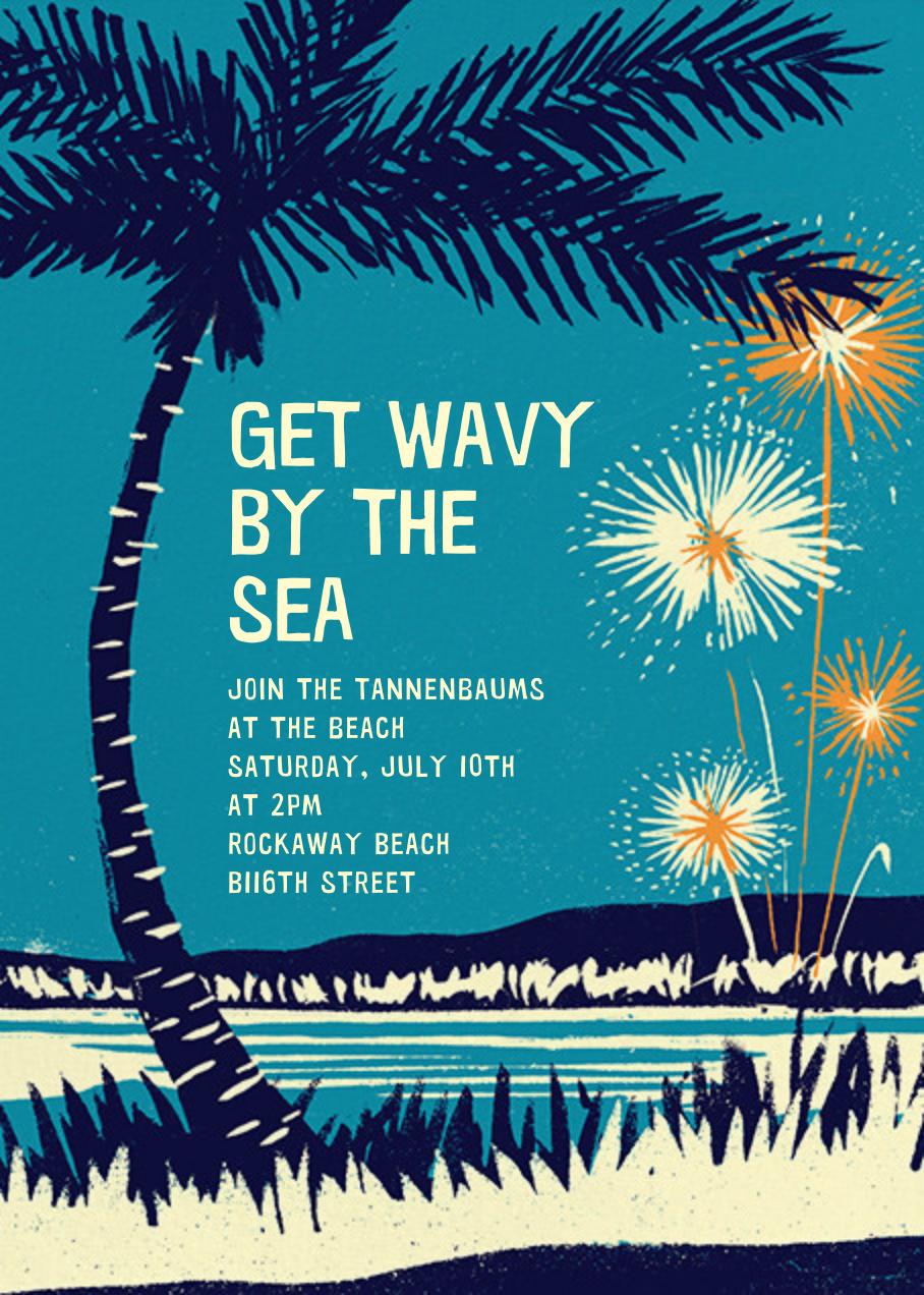 Seaside Fireworks - Paperless Post - Summer entertaining
