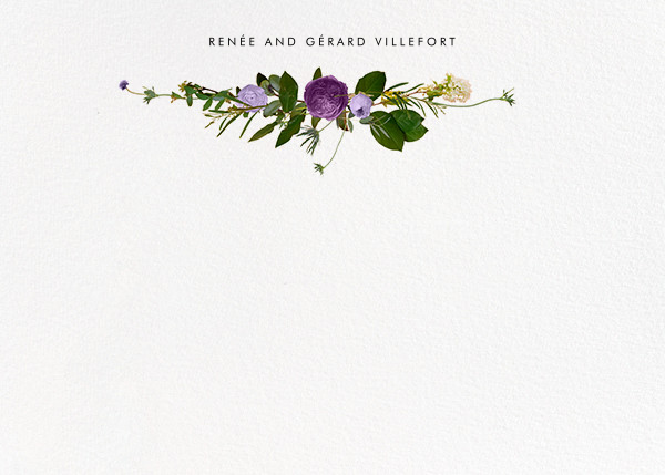 Belvoir (Stationery) - Purple/White - Paperless Post - Personalized stationery