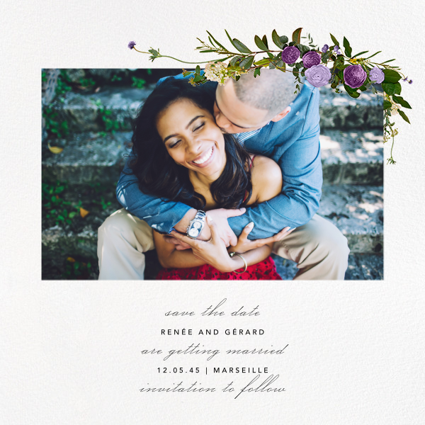 Belvoir (Photo Save the Date) - Purple/White - Paperless Post - Photo